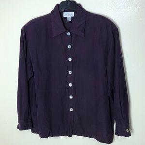 🔵 Vintage Lee David Silk Blend Shirt